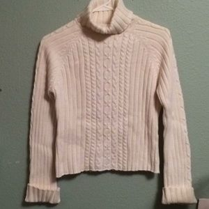 Other - Girls size L Large knit sweater cream color